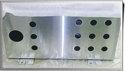 water jet cut electrical control panel